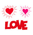 hand draw heart icon vector image vector image