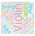 History Of The Violin text background wordcloud vector image
