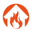 House fire insurance icon