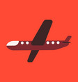 icon in flat design aircraft vector image vector image