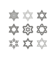 icons with star of David traditional Jewish symbol vector image