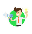 idea generation icon with businessman vector image vector image