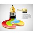 ink pen as symbol visual vector image