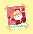 instant photo frame santa claus christmas vector image vector image