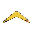 isolated boomerang design vector image