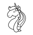 magical unicorn design vector image vector image