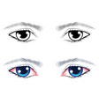 male eyes with eyebrows vector image vector image