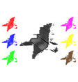 miami city map vector image vector image