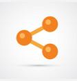 network trendy social symbol trendy colored vector image