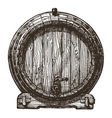 oak barrel logo design template beer or vector image
