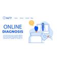 online diagnosis assistance service landing page vector image