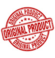 original product red grunge round vintage rubber vector image vector image