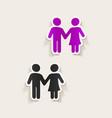 realistic design element couple in love vector image