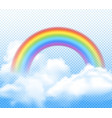 realistic rainbow composition vector image vector image