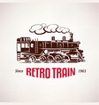 retro train vintage symbol emblem label vector image vector image