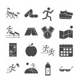 running sport race map flag mountains trophy apple vector image