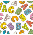 seamless pattern with letters in donut style vector image