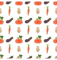 Seamless watercolor pattern with veggies on the vector image