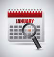 search in calendar vector image