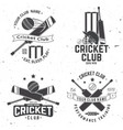 set cricket club badges concept vector image