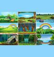 set nature landscape vector image vector image
