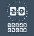 set numbers on a mechanical scoreboard vector image vector image