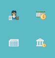 set of accounting icons flat style symbols with vector image