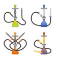 set of icon hookahs for tobacco smoking made of vector image