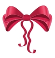 Silky bow design element vector image vector image