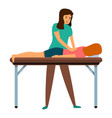 spine masseur icon cartoon style vector image vector image