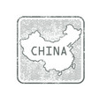 stamps with contour map china vector image vector image