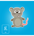 Stock icons with rat and chinese zodiac vector image vector image