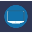 television screen icon vector image vector image
