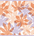 transparent tropical leaves seamless pattern vector image vector image