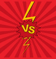 versus vs lettering fight background vector image