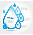 Water drop for info graphic vector image vector image