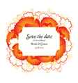 Wedding invitation cards with red poppies vector image vector image