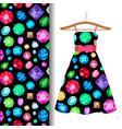 women dress fabric pattern with gems vector image vector image