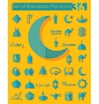 Set of ramadan flat icons vector image