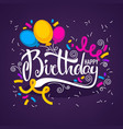 glossy and shine birthday card templatewith vector image