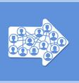 social cloud in arrow concept vector image