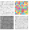 100 beauty salon icons set variant vector image vector image