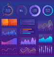 3d chart and graphic diagram with options vector image