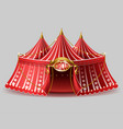 3d realistic circus tent with signboard vector image