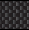 3d Square Seamless Pattern Black vector image