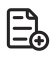 add new page icon vector image vector image