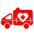 ambulance emergency situation cardiology vector image