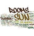 are sun rooms safe text background word cloud vector image vector image