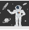 Astronauts in Space vector image vector image