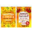 autumn festival music picnic poster vector image vector image